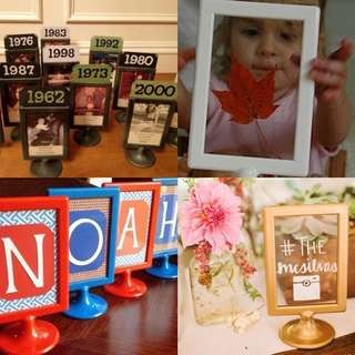 Clearance 🍊20 Pre-Loved Wedding Table Photo Frame