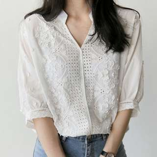 (Instock) Yesstyle lace blouse top
