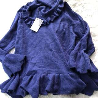 New love Moschino blue sweater uk10