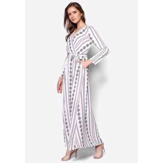 Zalia-Aztec Wrap Dress