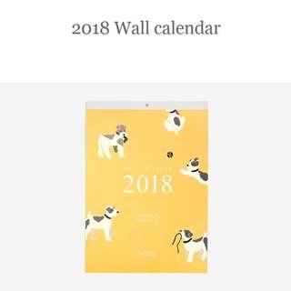 preorder: 2018 wall calendar