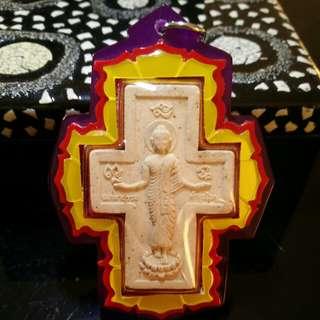 Kruba Krissana Phra Puttisak Cross Buddha Amulet