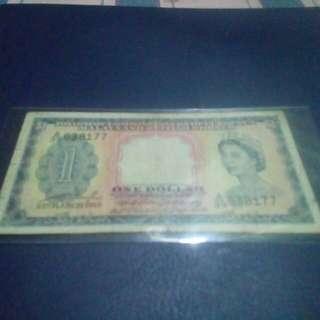 One Dollar Malaya And British Borneo