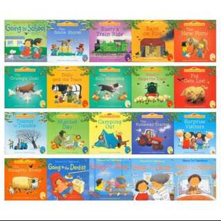 BN Usborne Farmyard Tales and First Experiences (set of 20 books)