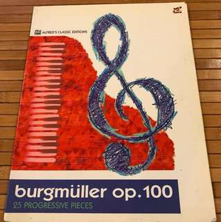 Piano Book Burgmuller op.100 25 Progressive Pieces