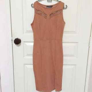 Pink Office Dress (Free size)