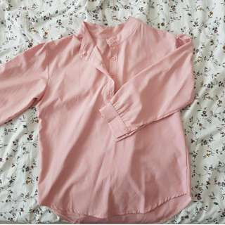 Light Pink Office Casual Top