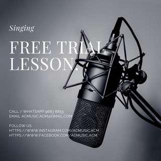 Free Singing Trial Lesson