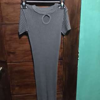 Gray Bodycon Dress