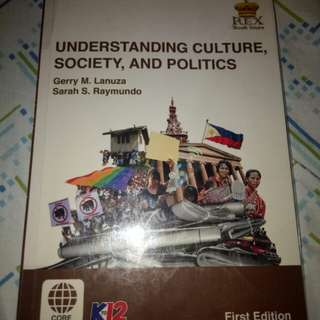 Understanding Culture, Society, and Politics (Rex) SHS book