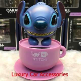 STITCH CARTOON SOLAR POWERED DANCING FLIP FLAP CAR HOME OFFICE TOY
