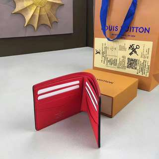 Louis Vuitton x Supreme Slender Wallet Red