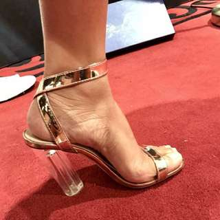 Marco gianni clear heeled shoes