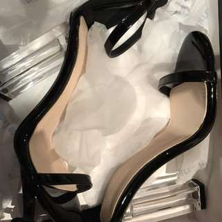 Marco gianni black clear heeled shoes