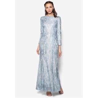 Zalia-Metallic Lace Mermaid Dress