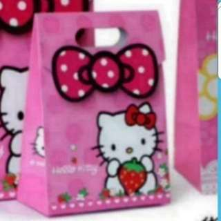 In Stock Hello Kitty Gift  Bag Carrier Children Party Gift Bag In Different Designs And Large Size Only Size L  31 × 23.5 ×  11 cm