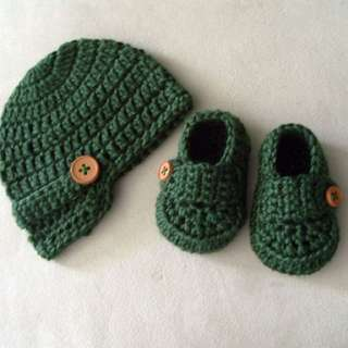 Crochet boys items set