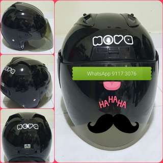 1102** NOVA Black with Tinted Helmet For Sale 😁😁Thanks To All My Buyer Support 🐇🐇 Yamaha, Honda, Suzuki