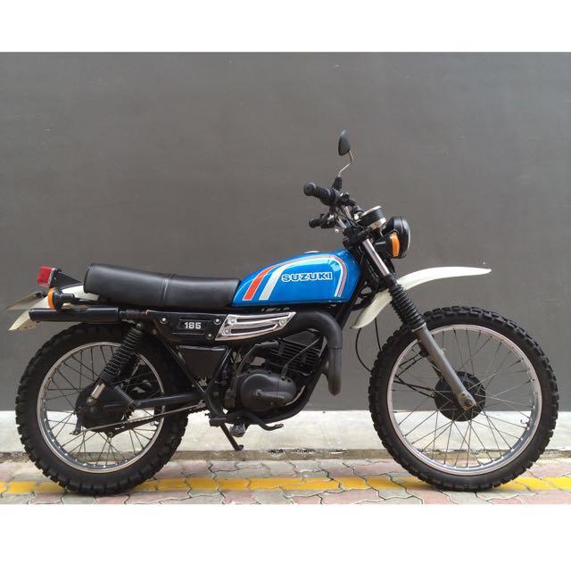 1978 Suzuki TS185 Classic Scrambler (nego), Motorbikes