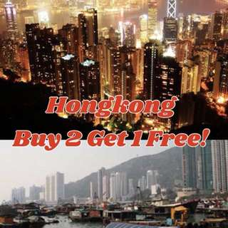 Hongkong Free and Easy Package Buy 2 and Get 1 Free!!!!