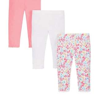 Brand New Mothercare Leggings 3 pack Size up to 2 years