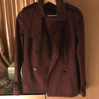 Jack Wills burgundy trench coat