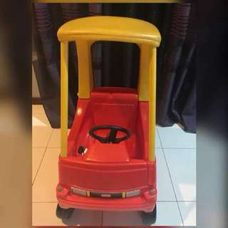 Little Tikes Coupe Red Yellow Car
