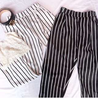 STRIPEY KULOT PANTS