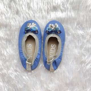Cotton On Kids Shoes - Blue Butterfly (Size 7)