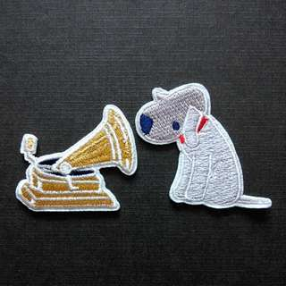His Master's Voice Dog Gramophone HMV Classic Iron On Patch