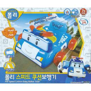 (Free Delivery) Robocar Poli Speedy Poli Inflatable Baby Float Swim Ring Seat with Steering Wheel