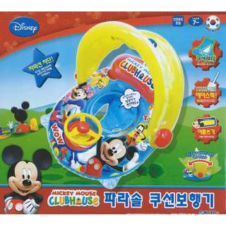 (Free Delivery) Disney Mickey Mouse Clubhouse Inflatable Baby Float Swimming Ring Seat with Steering Wheel