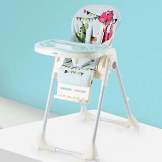 (BLUE DINO) Multi Purpos Baby High chair Feeding Chair