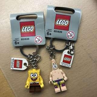 Spongebob & Patrick keychain set