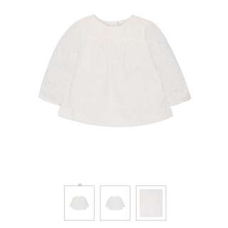 Brand New Mothercare Cream Crochet Blouse Size 2-3 years