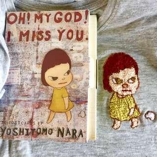 """Embroidery - Yoshitomo Nara """"Oh! My god! I Miss You"""""""
