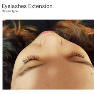 Eyelashes extensions (3D natural type) and removal