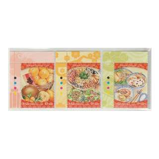 Malaysia 2017 Festive Food Series (1st Series) Chinese set of 3V Mint MNH SG #MS2197-2199