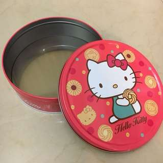 kitty 圓形鐵盒