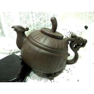 阿公留下來泡茶陳曉芳製壺壺蓋內小芳落款茶壺