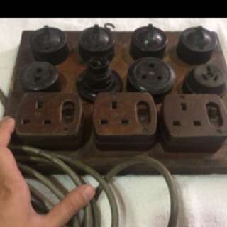 (FS138) vintage power socket