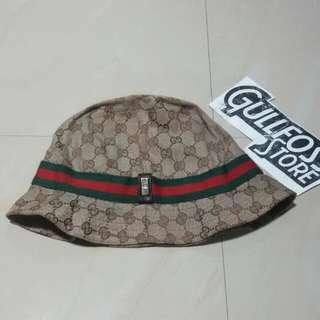 Bucket Hat Gucci Second Branded Topi Bekas prada ferragamo lv Import
