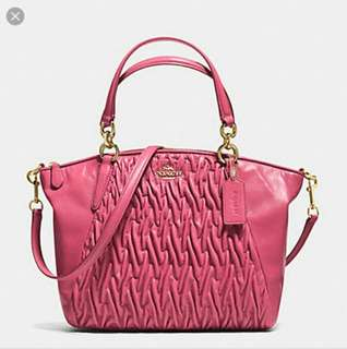 Coach Twisted Gathered Leather Small Kelsey