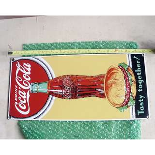 90's美國可口可樂廣告鐵牌一塊B款