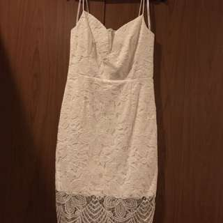 Ever New white lace dress