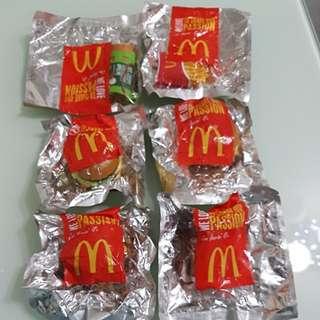 麥當勞食品玩具吊飾套裝