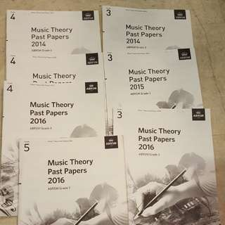 ABRSM Theory exam papers grade 1 to 5