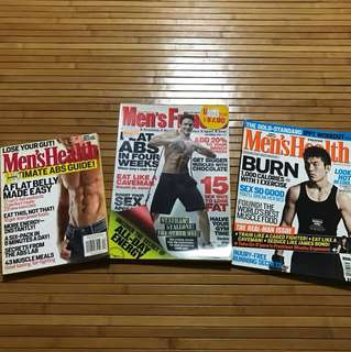 Men's Health Magazine (2009, 2010 & 2012)