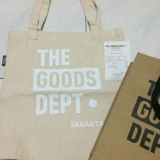 THE GOODS DEPT tote bag
