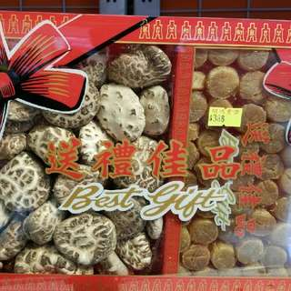 精選花菇元貝套裝(送禮佳品)Dried Mushrooms & Dried Scallops Gift Set (selected for CNY gift)